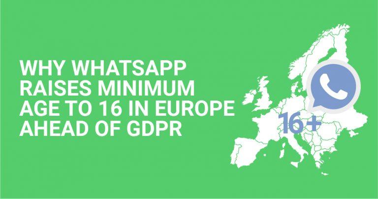 Anledning till att WhatsApp höjer lägsta åldern till 16 år i Europe innan GDPR