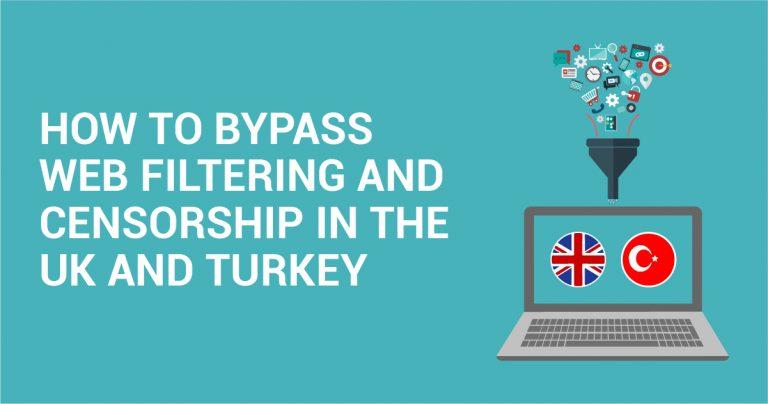 Hur man tar sig runt webbfilter och censur i Storbritannien och Turkiet